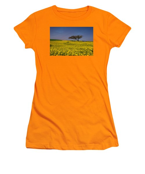Women's T-Shirt (Junior Cut) featuring the photograph Yellow Spring by Uri Baruch
