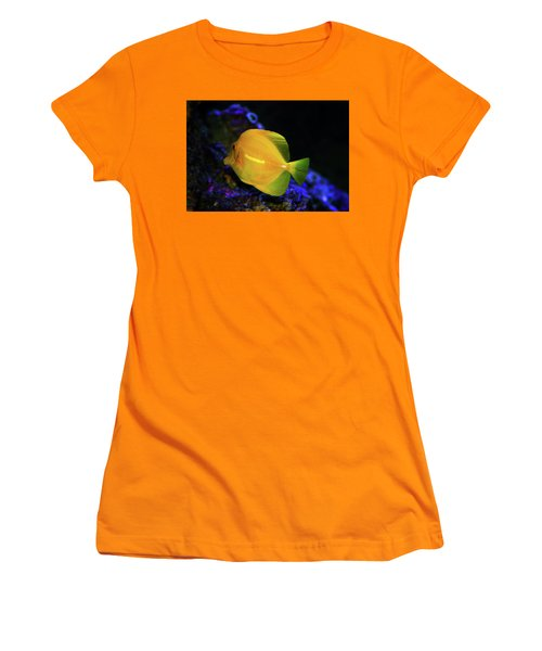 Women's T-Shirt (Junior Cut) featuring the photograph Yellow Tang by Anthony Jones