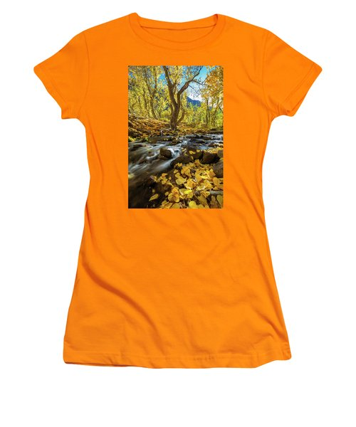 Yellow Women's T-Shirt (Junior Cut) by Tassanee Angiolillo