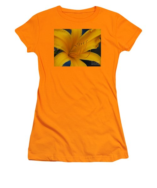 Yellow Tiger Lilly Women's T-Shirt (Athletic Fit)