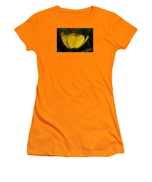 Yellow Tulip 2 Women's T-Shirt (Junior Cut) by Jean Bernard Roussilhe