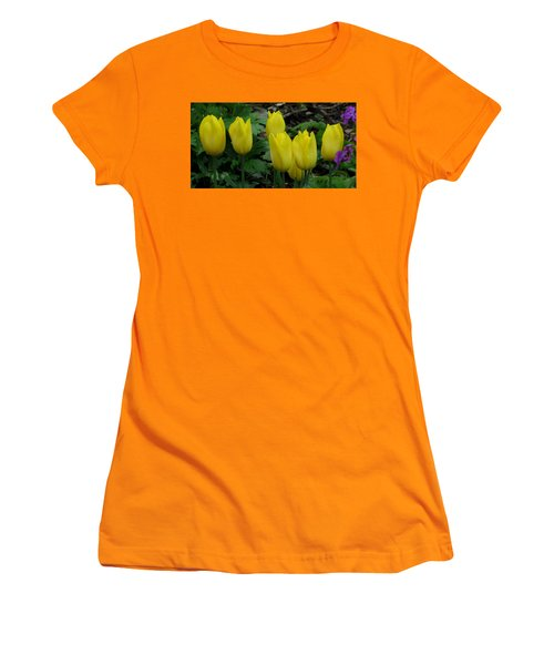 Yellow Tulips Women's T-Shirt (Junior Cut) by John Topman