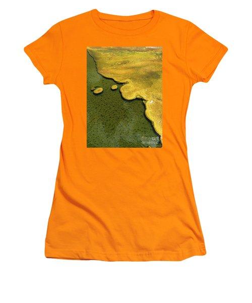 Yellowstone Art. Yellow And Green Women's T-Shirt (Junior Cut) by Ausra Huntington nee Paulauskaite