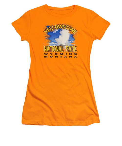 Yellowstone National Park Women's T-Shirt (Junior Cut) by David G Paul