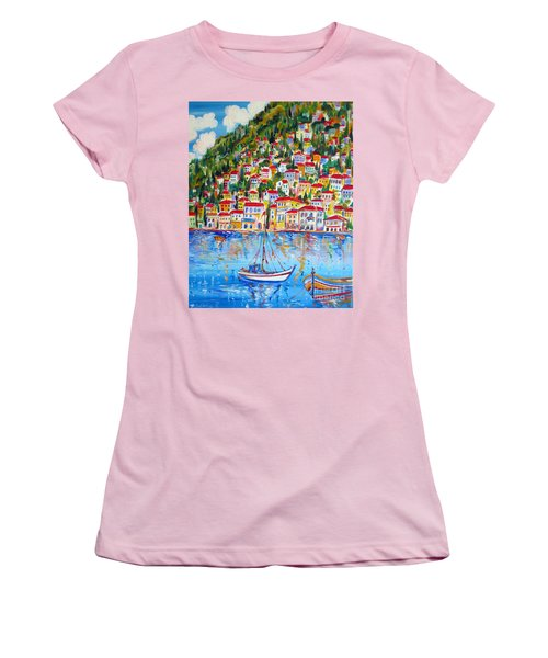 Boats Down South Italy Coast  Women's T-Shirt (Athletic Fit)