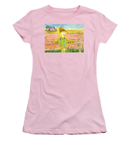 Cheerful Scarecrow Women's T-Shirt (Athletic Fit)