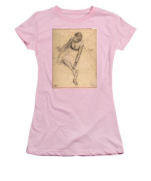 Dancer Adjusting Her Slipper Women's T-Shirt (Athletic Fit)