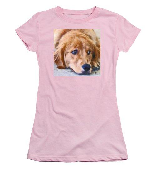 Golden Retriever Dog Women's T-Shirt (Athletic Fit)
