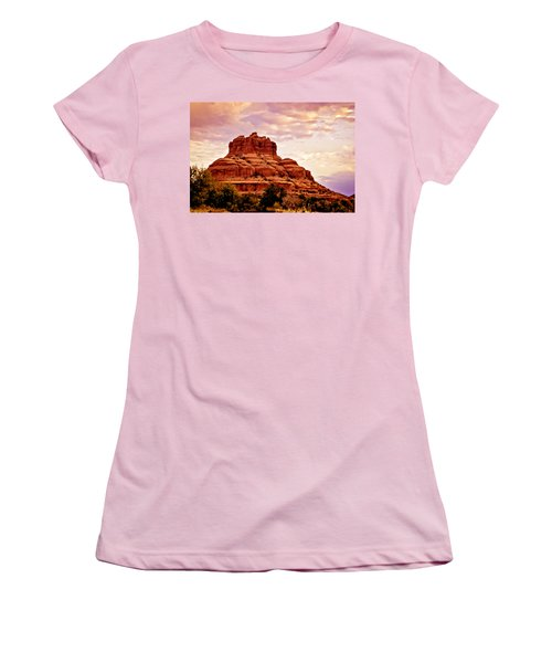 Bell Rock Vortex Painting Women's T-Shirt (Athletic Fit)