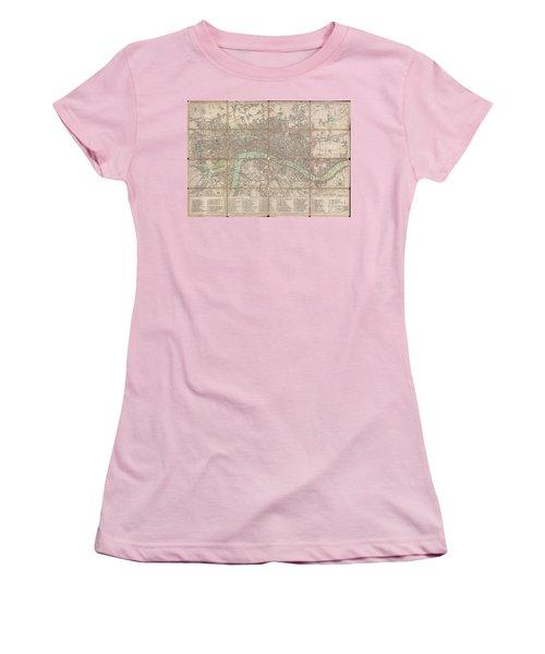 1795 Bowles Pocket Map Of London Women's T-Shirt (Junior Cut) by Paul Fearn