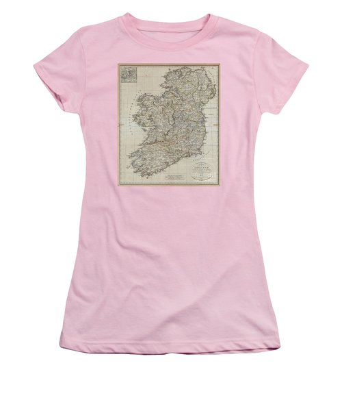 1804 Jeffreys And Kitchin Map Of Ireland Women's T-Shirt (Junior Cut) by Paul Fearn