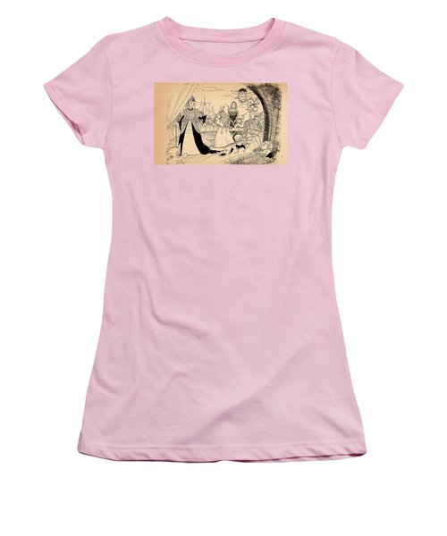 Women's T-Shirt (Junior Cut) featuring the drawing The Palace Balcony by Reynold Jay