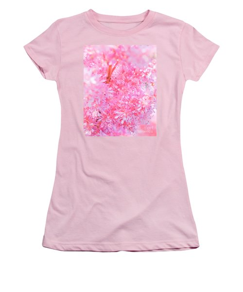 A Natural Pink Bouquet Women's T-Shirt (Athletic Fit)