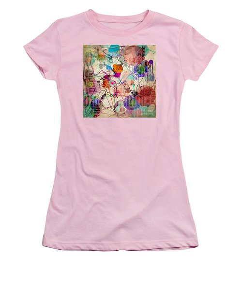 Women's T-Shirt (Junior Cut) featuring the digital art Abstract Expressionism by Phil Perkins