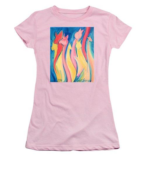 Alpaca Flames Women's T-Shirt (Athletic Fit)