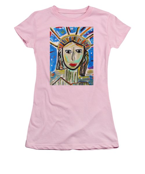 American Lady Women's T-Shirt (Junior Cut) by Mary Carol Williams