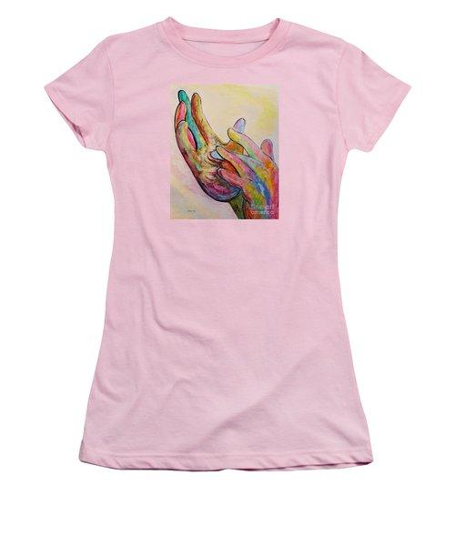 American Sign Language Jesus Women's T-Shirt (Junior Cut) by Eloise Schneider