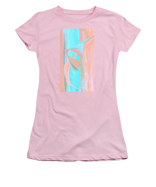 Women's T-Shirt (Junior Cut) featuring the digital art Angelfish by Stephanie Grant