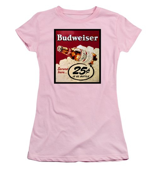 Antique Budweiser Signage Women's T-Shirt (Athletic Fit)