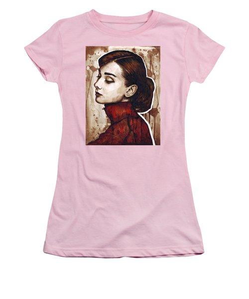 Audrey Hepburn Women's T-Shirt (Junior Cut) by Olga Shvartsur