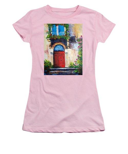 Balcony Women's T-Shirt (Junior Cut) by Janet Garcia