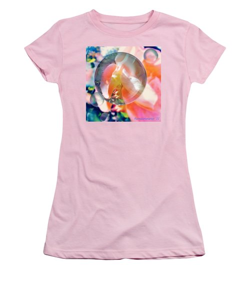 Beautiful Rose Marble - Autumn Light Women's T-Shirt (Athletic Fit)