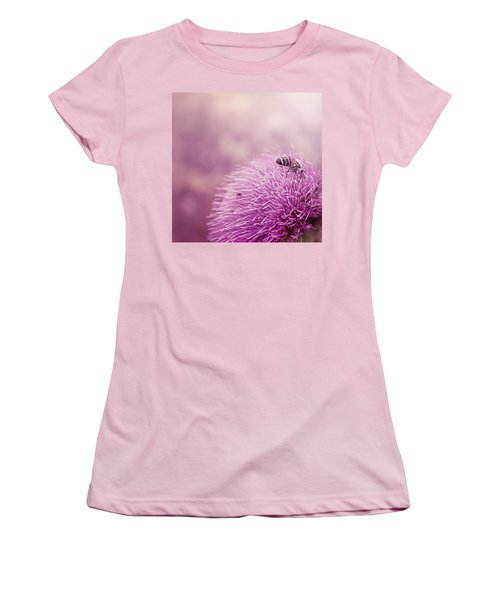 Beauty And The Bee Women's T-Shirt (Junior Cut) by Trish Mistric