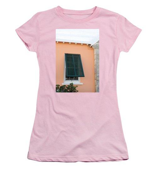 Bermuda Shutters Women's T-Shirt (Junior Cut) by Ian  MacDonald