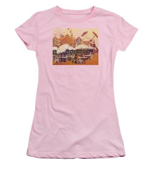 Between Amusements Women's T-Shirt (Athletic Fit)