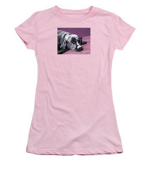 Black Labrador Beauty Sleep Women's T-Shirt (Athletic Fit)