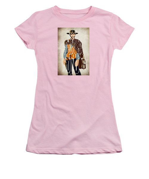 Blondie Poster From The Good The Bad And The Ugly Women's T-Shirt (Junior Cut) by Ayse Deniz