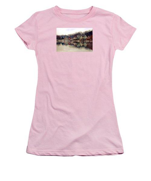 Boathouse Row Philadelphia Women's T-Shirt (Athletic Fit)