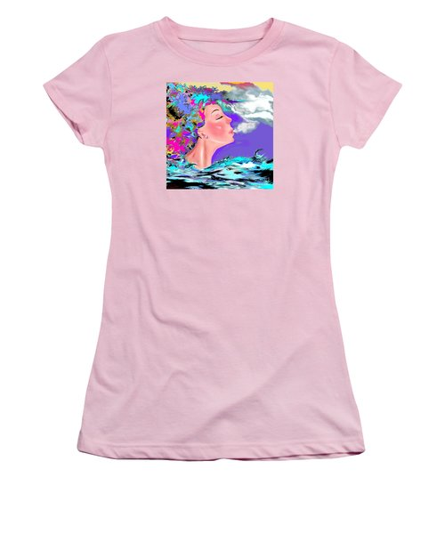 Just Breathe Women's T-Shirt (Junior Cut) by Lori  Lovetere