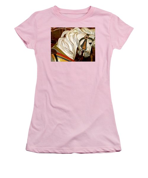 Women's T-Shirt (Junior Cut) featuring the photograph Brooklyn Hobby Horse by Joan Reese