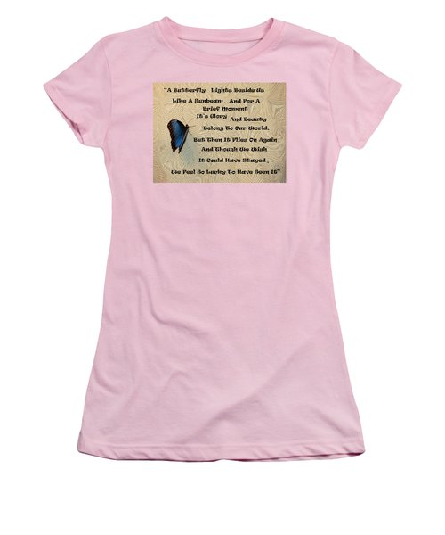 Butterfly Poem Women's T-Shirt (Athletic Fit)