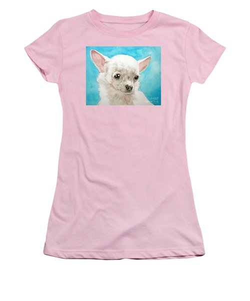 Chihuahua Dog White Women's T-Shirt (Athletic Fit)