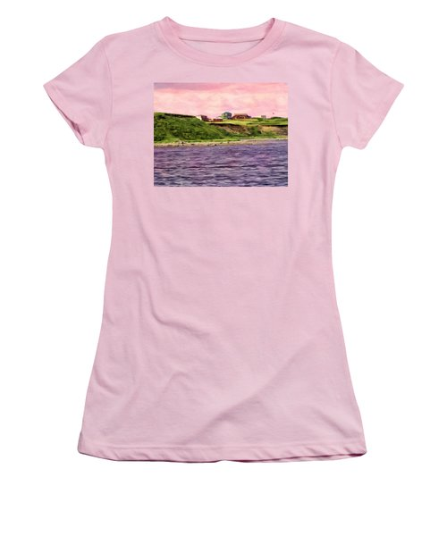 Cold Bay From The Dock Women's T-Shirt (Junior Cut) by Michael Pickett