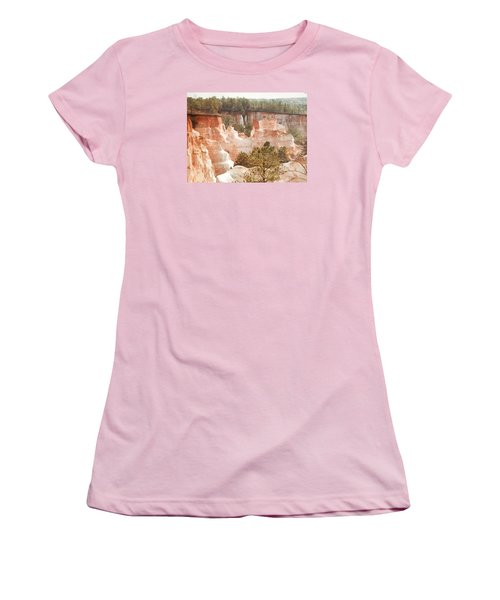 Women's T-Shirt (Junior Cut) featuring the photograph Colorful Georgia Canyon Wonder by Belinda Lee