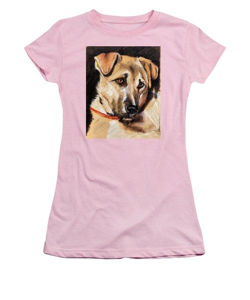 Dog Portrait Drawing Women's T-Shirt (Athletic Fit)