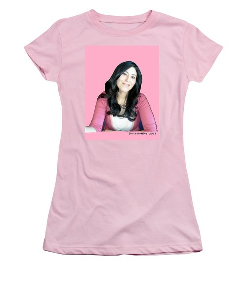 Donna In Pink Women's T-Shirt (Junior Cut) by Bruce Nutting