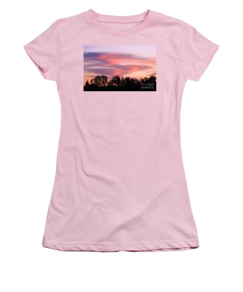 Women's T-Shirt (Junior Cut) featuring the photograph Dragon Clouds by Meghan at FireBonnet Art