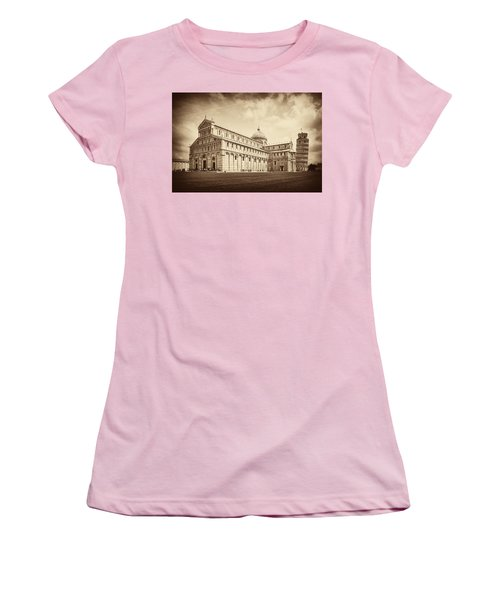 Women's T-Shirt (Junior Cut) featuring the photograph Duomo And Tower by Hugh Smith