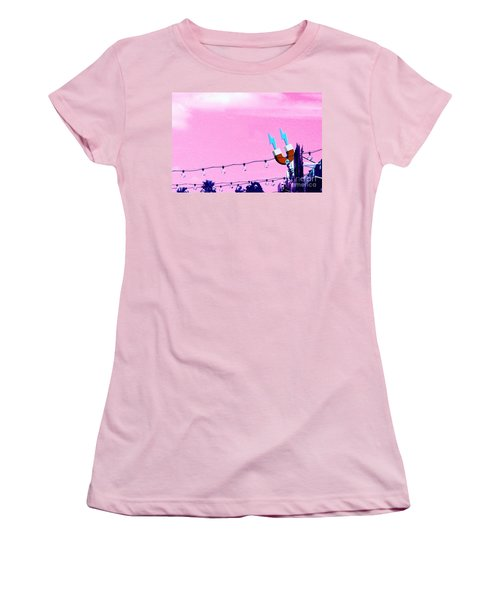 Electric Pink Women's T-Shirt (Athletic Fit)