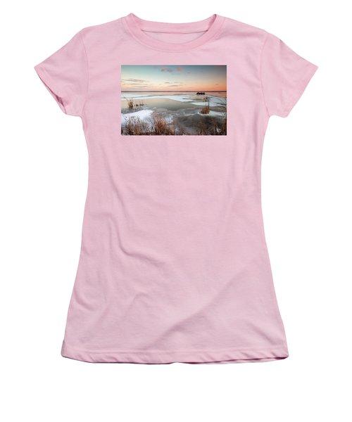 Emiquon Sunset Women's T-Shirt (Athletic Fit)