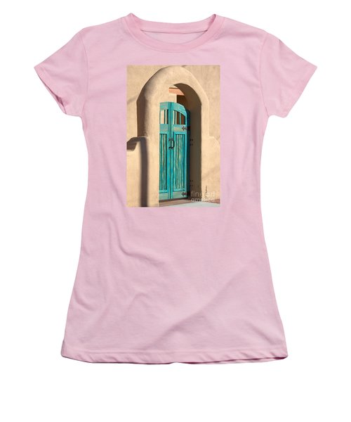 Women's T-Shirt (Junior Cut) featuring the photograph Enter Turquoise by Barbara Chichester