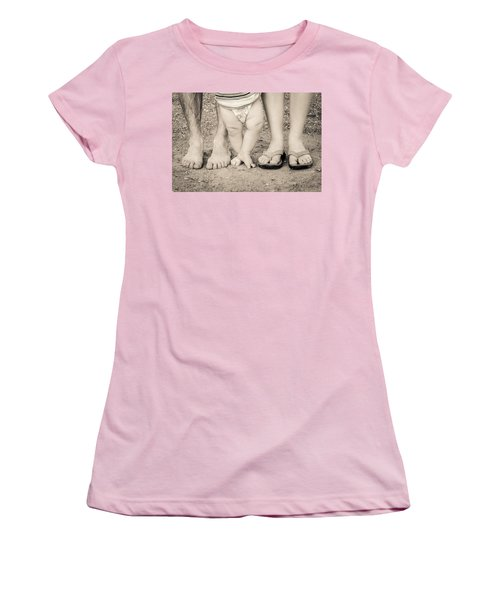 Family Feets Women's T-Shirt (Junior Cut) by Bill Pevlor