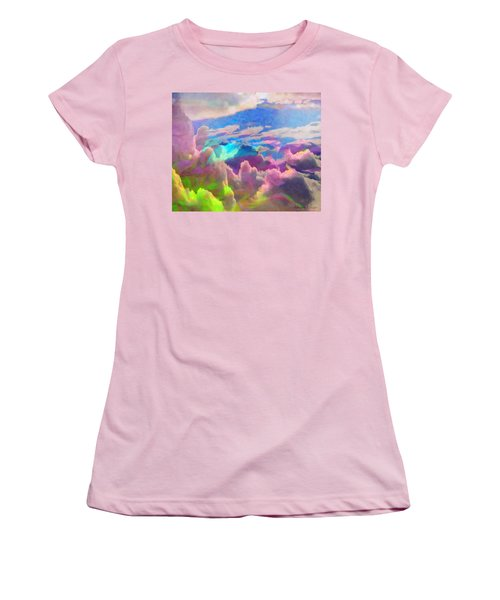 Abstract Fantasy Sky Women's T-Shirt (Athletic Fit)