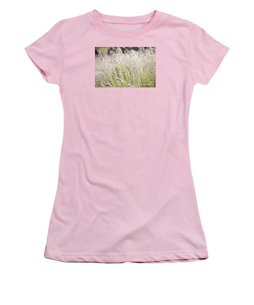 Field Of Lavender At Clos Lachance Vineyard In Morgan Hill Ca Women's T-Shirt (Junior Cut) by Artist and Photographer Laura Wrede