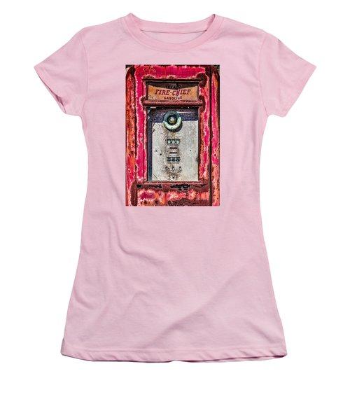 Women's T-Shirt (Junior Cut) featuring the photograph Fire Chief Gas by Steven Bateson