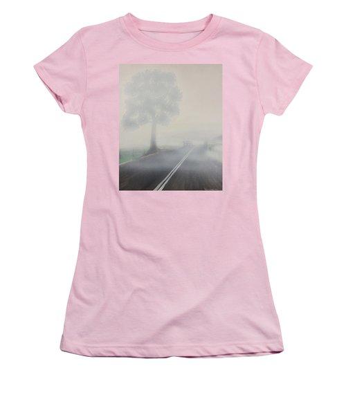 Foggy Road Women's T-Shirt (Junior Cut) by Tim Mullaney